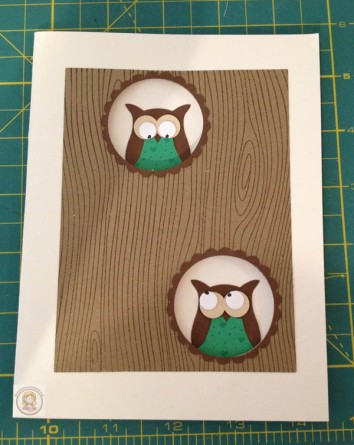 Stampin Up Owl Punch Greeting Card
