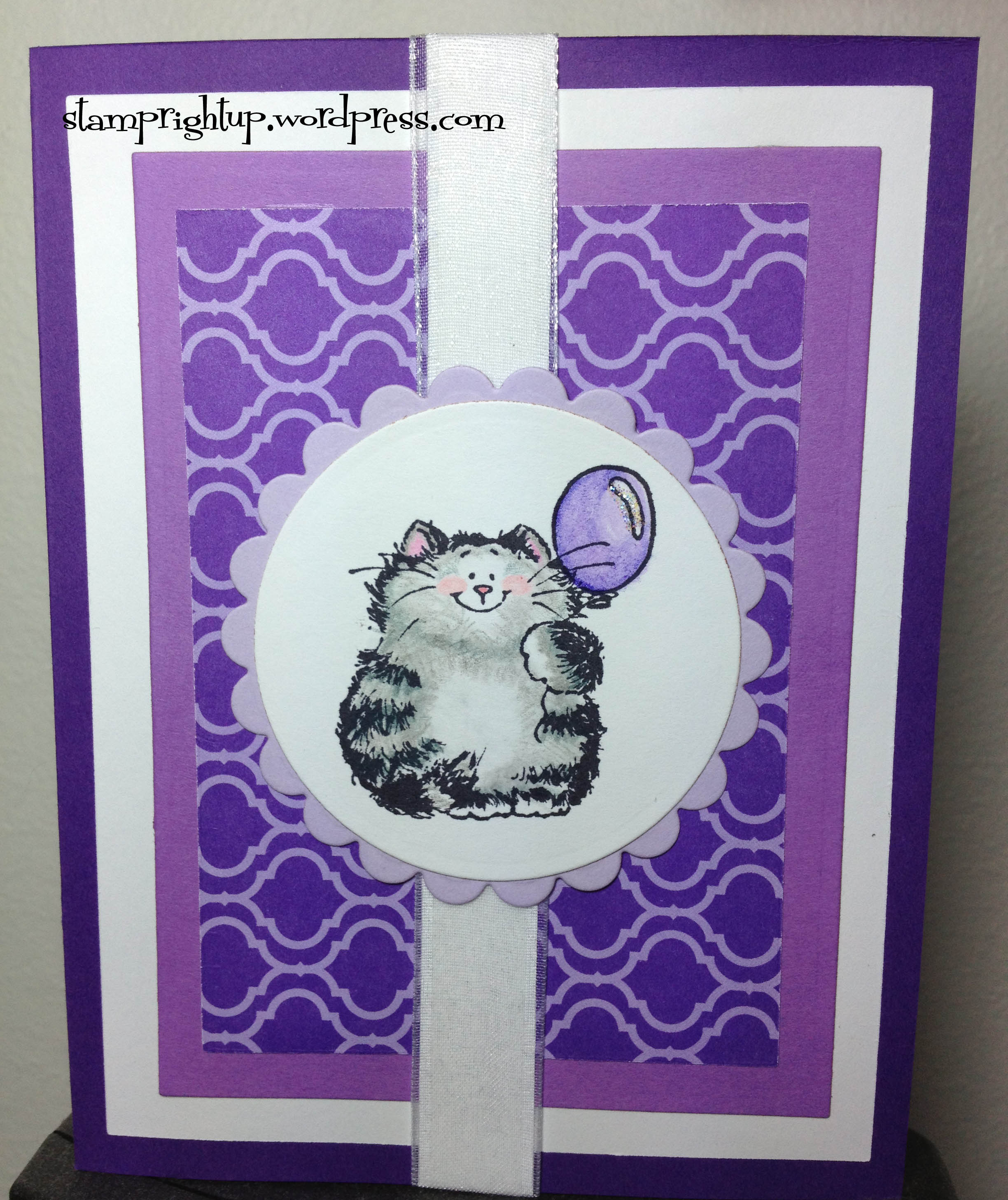 Crazy for Coloring:  Penny Black ~ Cat with Balloon