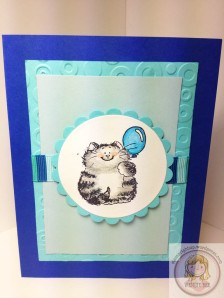 Penny Black Its Your Day Cat Balloon Card