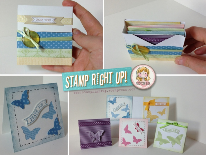 Stampin Up 3x3 Note Card Gift Set with Box