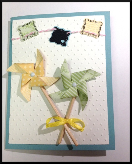 Stampin Up Pinwheel Sizzlit Card