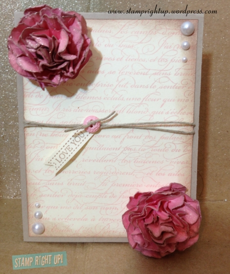 Stamp Right Up Mother's Day Paper Flower Card