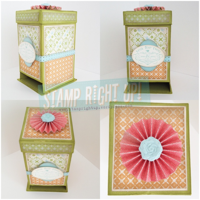 Mother's Day Stampin Up Tea Bag Dispenser Gift Box