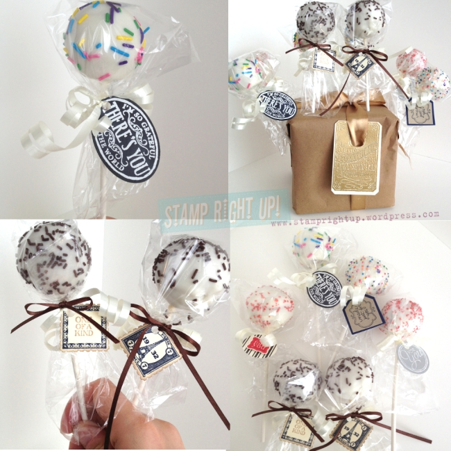 Cake Pops with Stampin Up for Father's Day gift treat