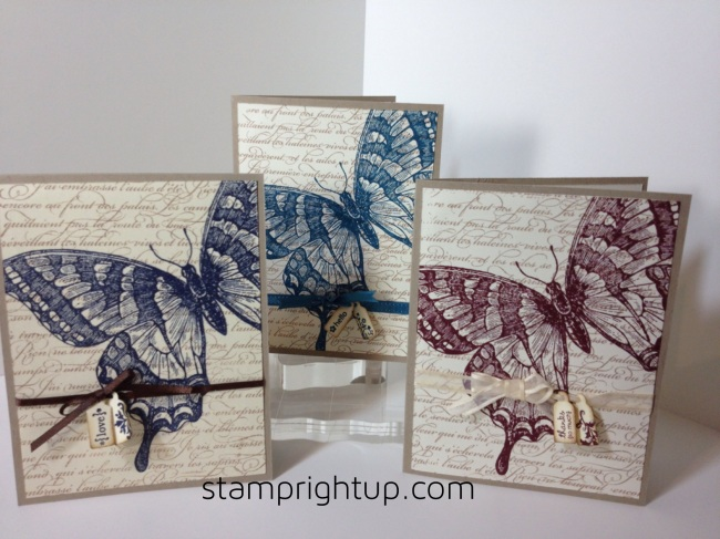 Stampin Up Swallowtail card set