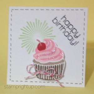 Cupcake Birthday Note Card