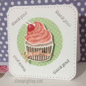 Thank You Cupcake Note Crd - Simon Says Stamp July Card Kit