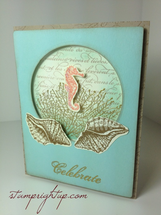 Beach wedding card - Stampin Up's By The Tide