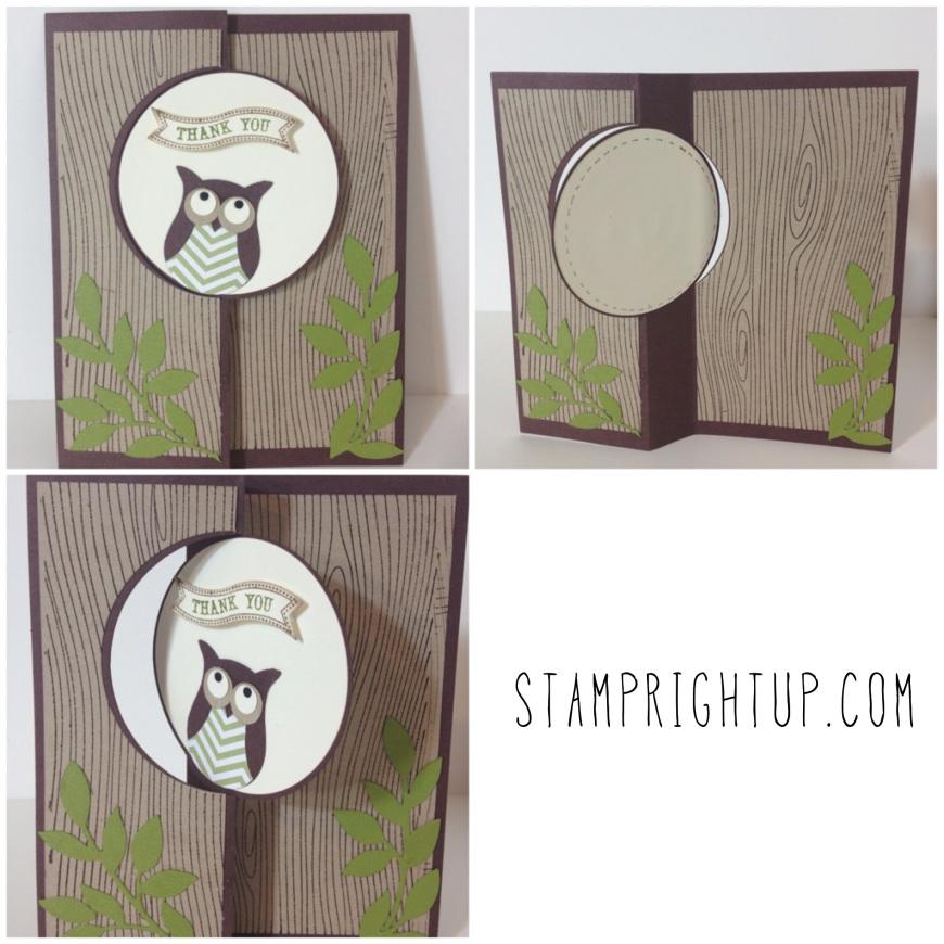 Stampin Up Circle Thinlit & Owl Punch