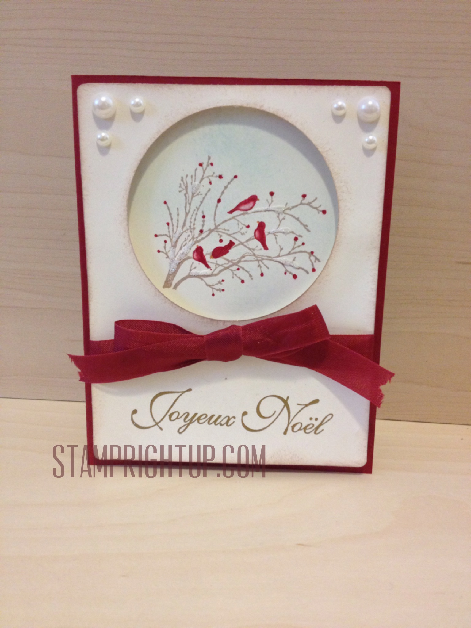 Stampin Up Serene Silhouettes Christmas Workshop Card | Stamp ...