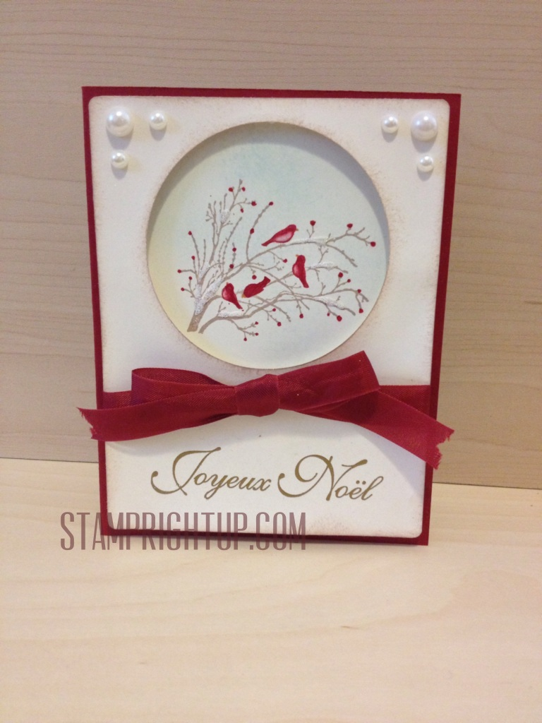 Stampin Up Serene Sihouettes Christmas Card