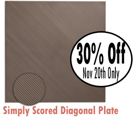 30% off Stampin Up's simply scored diagonal plate