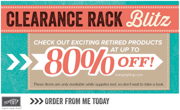 Stampin Up Clearance Rack Blitz