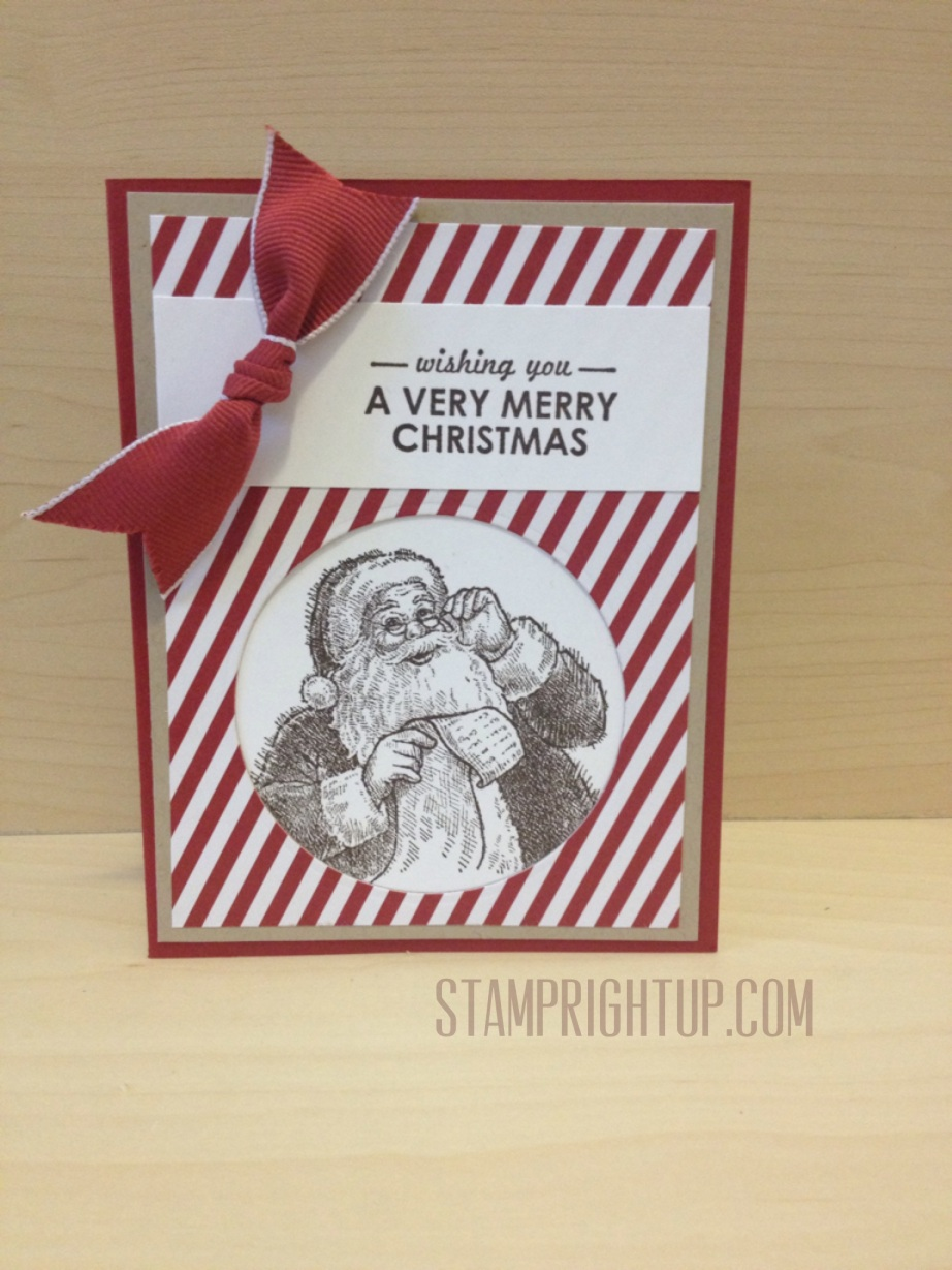 Stampin Up Santa Christmas Card