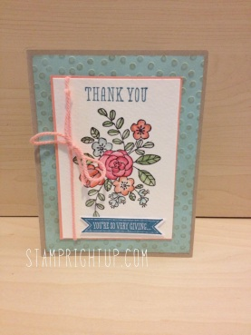 So Very Grateful stamp set colored with markers and blender pen