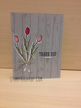 Backyard Basics Tulips & new Hardwood background stamp