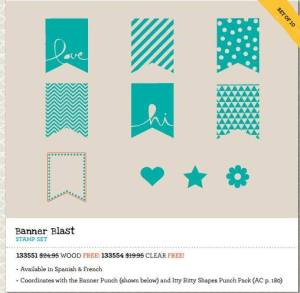 Banner Blast stamp set free during Sale-A-Bration 2014