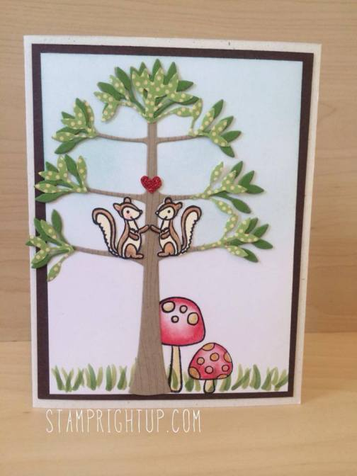 Kaiser Craft Squirrels In Love Card by Wendie Bee