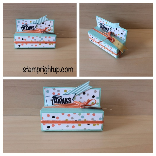 Stampin Up Avon Lip balm box by Wendie Bee of Stamp RIght Up Montreal