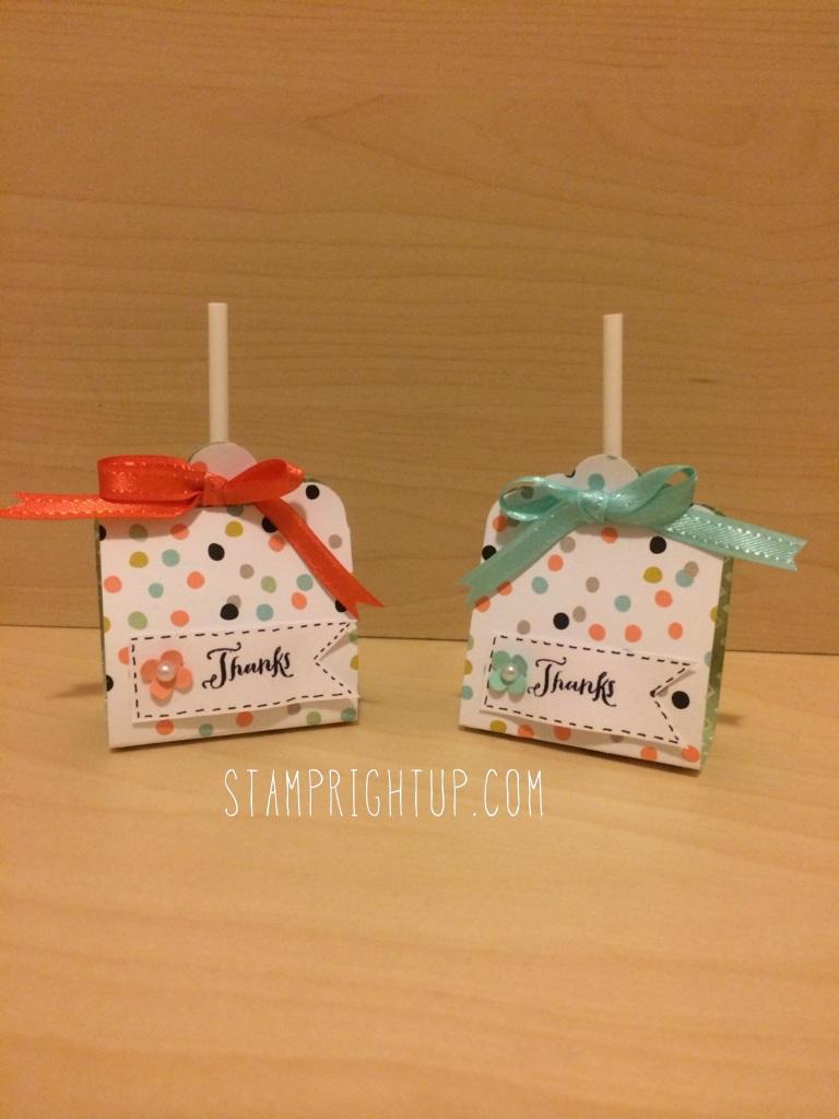 Stampin Up Sale-A-Bration Lollipop Treat Holder Party Favor