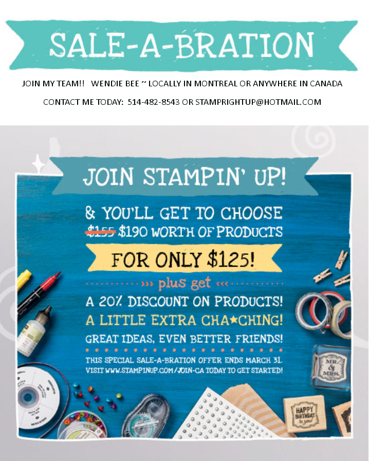 Sale-A-Bration with Wendie Bee  - join my in Montreal or anywhere in Canada!!