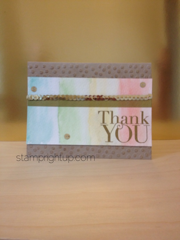 Thank You Stampin Up DIY Watercolor Thank You Card