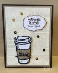 Perfect Blend Coffee Card by Wendie Bee of Stamp Right Up