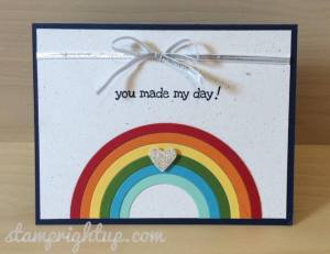 Rainbow Circle Framelit Card by Wendie Bee of Stamp Right Up
