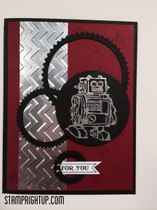 Robot Boys Will Be Boys Stampin Up card by Wendie Bee of Stamp Right Up