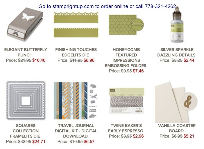 Stampin Up Canadian Weekly Deal Sale Online Shopping