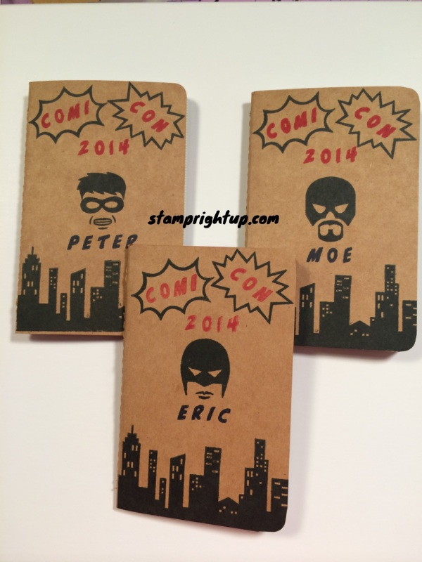 Calling All Hero's Mini Journal by Wendie Bee of Stamp Right Up