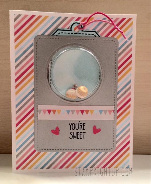Miss Kitty Creations Scented Cupcake earrings Gift Card Stamp Right Up