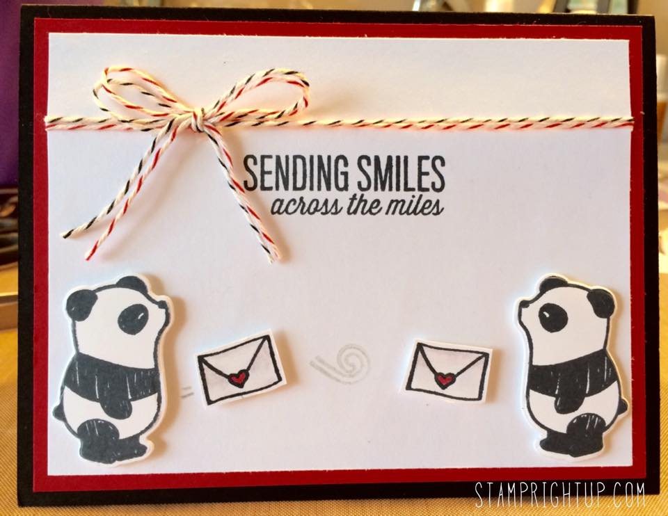 Pandamonium card using Mama Elephant by Wendie Bee of Stamp Right Up