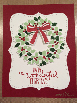 Classic Christmas Wreath Card by Wendie Bee of Stamp Right Up