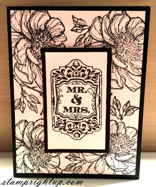 Bloom With Hope, Chalk Talk Black & White Classic Wedding Card by Wendie Bee of Stamp Right Up