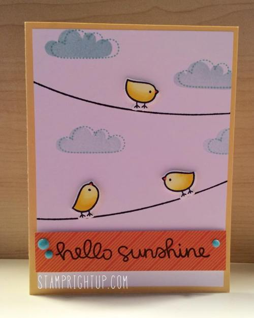 Lawn Fawn Hello Sunshine Stamp Right Up
