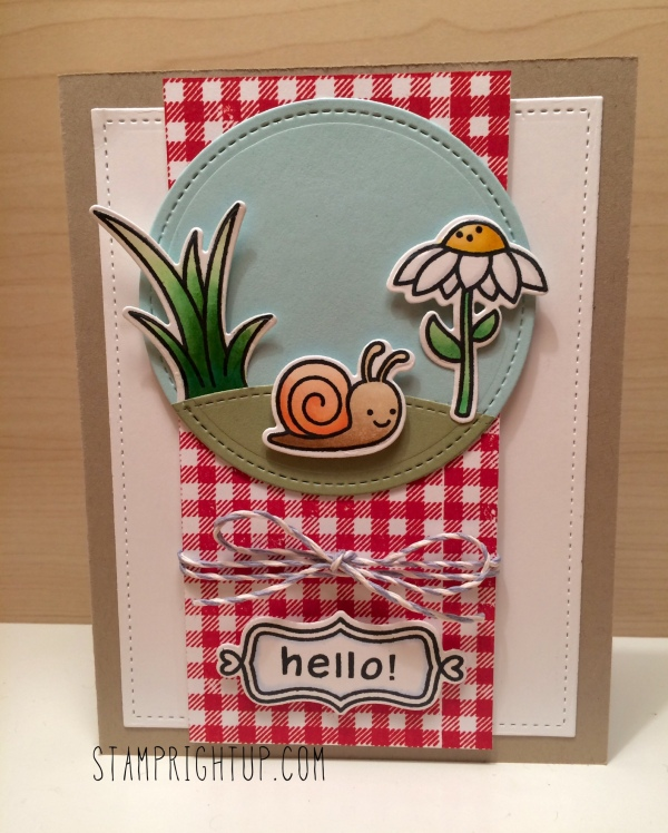 Lawn Fawn Gleeful Gardens Wendie Bee Stamp Right Up