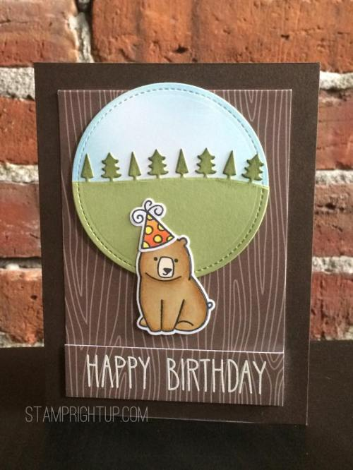 Lawn Fawn Love You Smore Happy Birthday Bear card by Wendie Bee of Stamp Right Up
