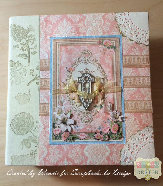 Graphic 45 Gilded Lily Album Cover by Wendie Bee for Scrapbooks By Design