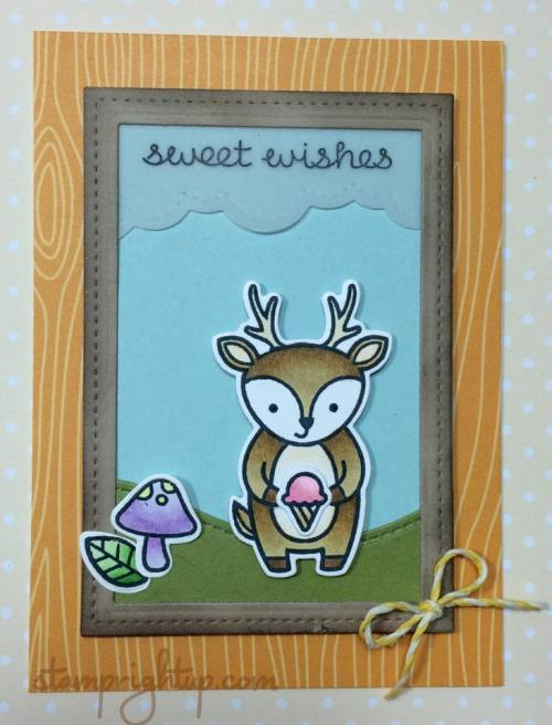 Lawn Fawn Party Animals Wendie Bee Stamp Right Up
