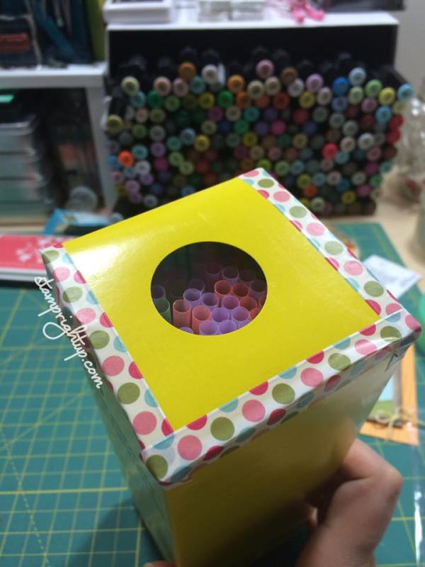 Wendie Bee_Stamp Right Up_life hack_pinterest_Straw dispenser_washi Tape