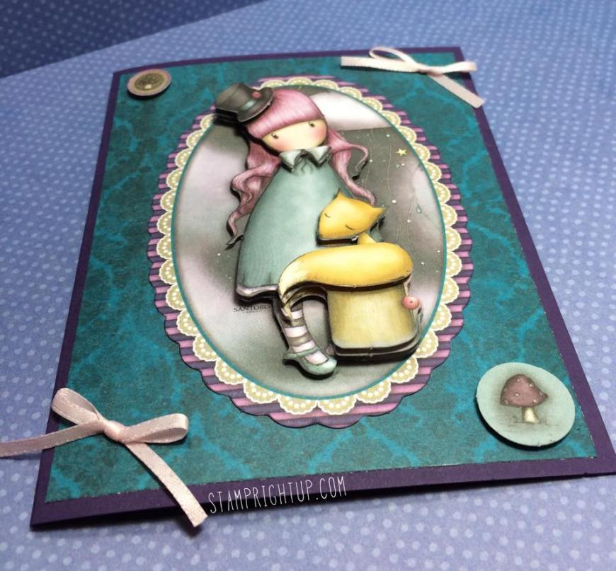 Gorjuss_Santoro_Decoupage Card_Victoria_Shabby Chic_Wendie Bee_Stamp Right Up