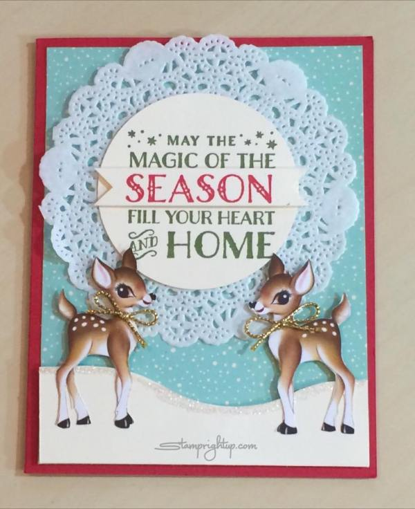 Home For Christmas Card_Stampin Up_Wendie Bee_Stamp Right Up