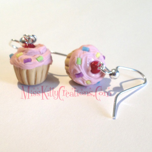 Scented Cupcake Earrings by Miss Kitty Creations