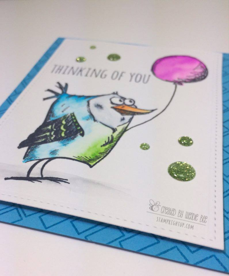 Tim Holtz Bird Crazy Talk Kuratake Clean Color Real Brush Pen Watercolor Easy Card Stamp Right Up