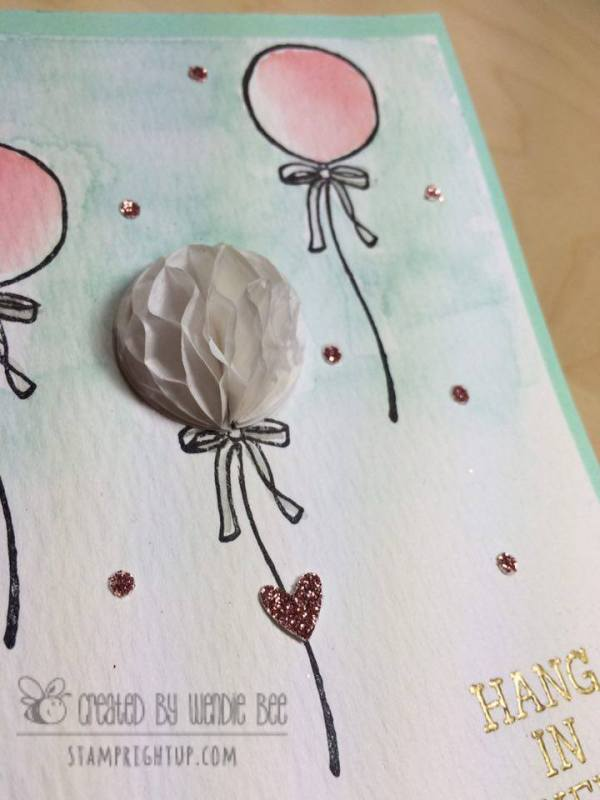 Watercolor Stampin Up Honeycomb Happiness Sale A Bration 2016 Wendie Bee Stamp Right Up_1