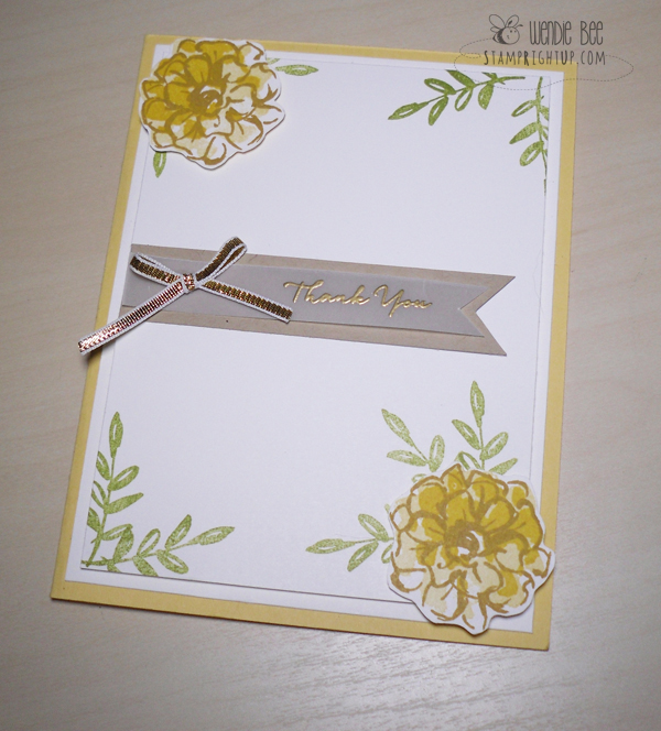 Stampin Up Sale A Bration Photopolymer Two Step Stamping What I Love Video Tutorial by Wendie Bee of Stamp Right Up