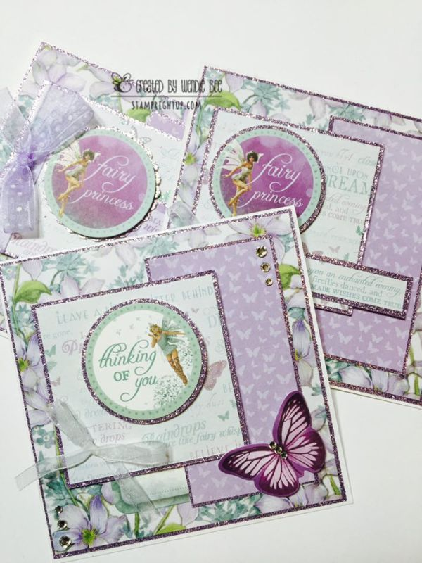Kaisercraft Fairydust_Card_Wendie Bee_Stamp Right Up