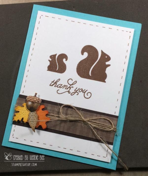 Simon Says Stamp Card Kit of the month October 2016 Nutty About You by Wendie Bee of Stamp Right Up