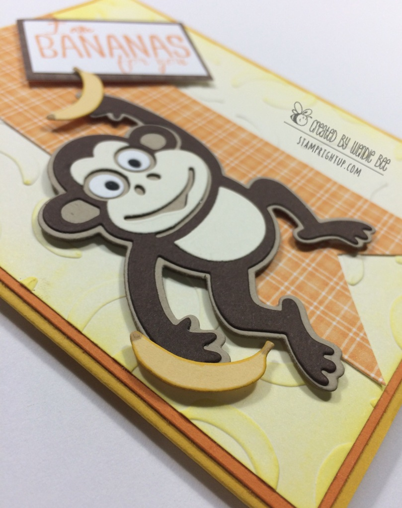 Elizabeth Craft Designs JINKS THE MONKEY Card Wendie Bee Stamp Right Up
